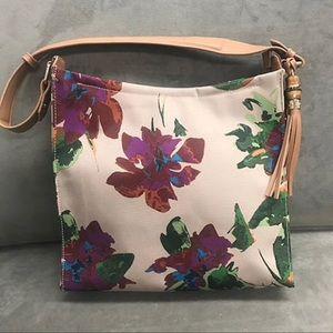 All season florals shoulder bag by Sondra Roberts